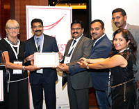 Ramakant Pandey receiving IFDH membership certificate